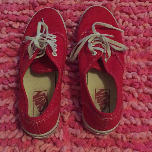 be926d3b36a1b8 Vans Shoes - Red Vans Lo Pro Women s 7 Men s 5.5 unisex